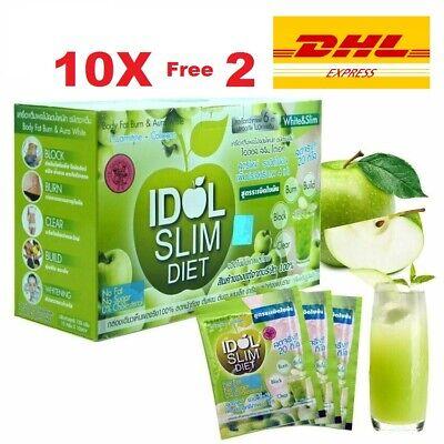 10 x  SLIM Diet APPLE Fruit Drink Lose Weight Burn Fat Radiant Skin Bright