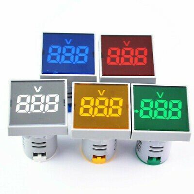 Mini Square Ac 20-500v Voltmeter Led Panel 3-digital Display Voltage Meter 22mm
