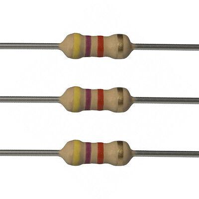 100 X 4.7k Ohm Carbon Film Resistors - 12 Watt - 5 - 4k7 - Fast Usa Shipping