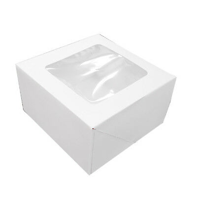 White Square Cake Box with Window, 1 pc