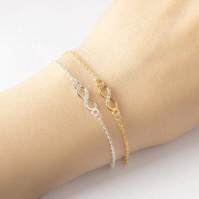 Infinity Armband Damen Unendlichkeit Armkette Forever Ewigkeit Schmuck Edelstahl