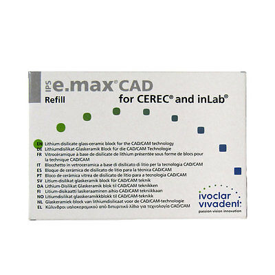 Ivoclar Vivadent Cerec Ips E.max Cad Ht 5 Blocks C14 A3.5 Emax