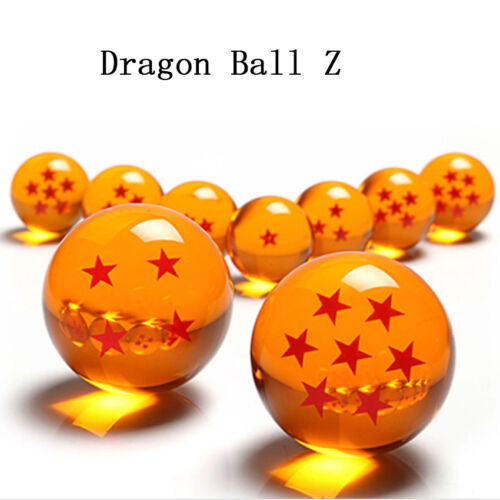 LARGE 76MM *NEW* DragonBall Z Stars Crystal Glass Ball 7pcs with Gift Box