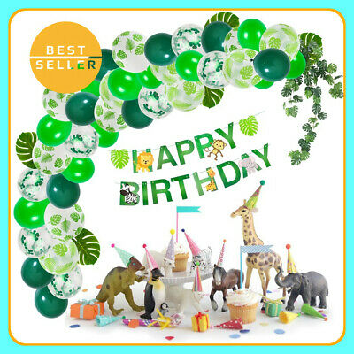 Jungle Themed Balloon Decorations (Safari Jungle Theme Birthday Children Party Decorations Animal Balloons Kids)