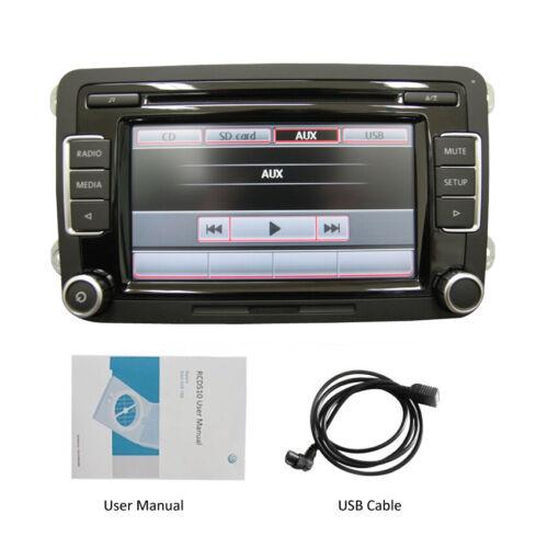 Autoradio RCD510,USB,CD,AUX,SD, Für VW Golf 5 6 Passat Seat touran T5 Skoda SEAT