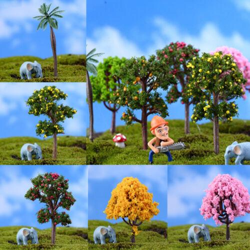 2pcs Micro Landscape Tree Miniature Artificial Plant Garden Home Decor Ornament