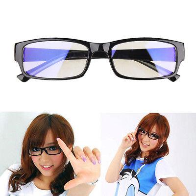 Clear Lens Glasses Black Frame Eyeglasses For Women Men Transparent Fake Glasses (Fake Eyeglasses)
