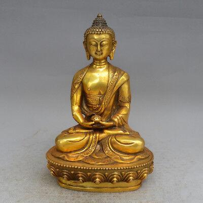 Tibet Tibetan Buddhism Bronze Shakyamuni Amitabha Buddha Sakyamuni Statue