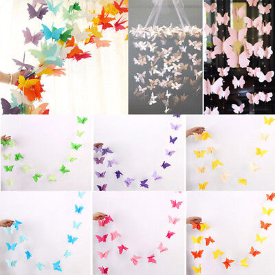 Butterfly Hanging Paper Garland Wedding Party Banner Decor Birthday Baby Shower (Butterfly Party)