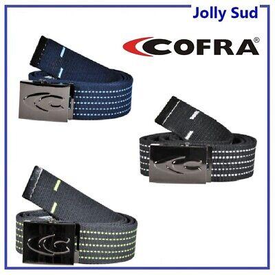 Cintura da Lavoro Uomo Fibbia Pantaloni Automatica COFRA in Tessuto Regolabile