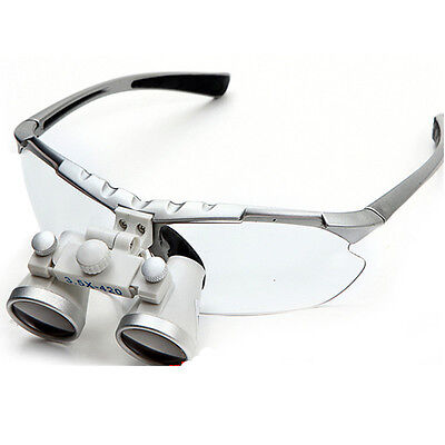 Silver Surgical Binocular Loupes 3.5420mm Dental Optical Glass Loupe Quality Ce