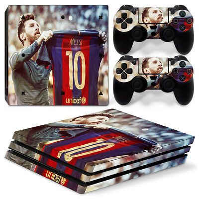 Barcelona Messi Skin For PS4 PRO ProConsole Stickers & 2 Controllers Skins