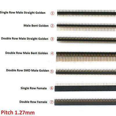 1.27mm Malefemale Pin Header Connector Golden New