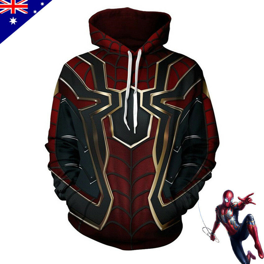 Avengers Infinity War Spiderman sweater Hoodie Iron spider Cosplay Costume HOT