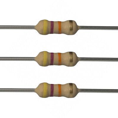 100 X 47k Ohm Carbon Film Resistors - 12 Watt - 5 - 47k - Fast Usa Shipping