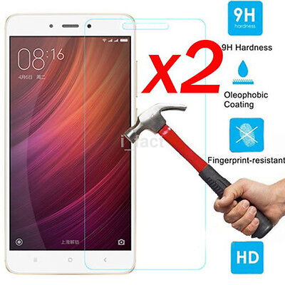 2pc 9H+ Tempered Glass Screen Protector Protective For Xiaomi Redmi Note 4/4X US