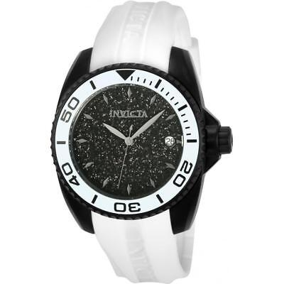 Invicta Angel 22705 Women's White Round Silicone Band Analog Date Watch