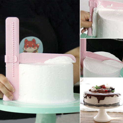 Adjustable Cake Edge Smoother Scraper Tool Butter Cream Decor Cake Smoothing