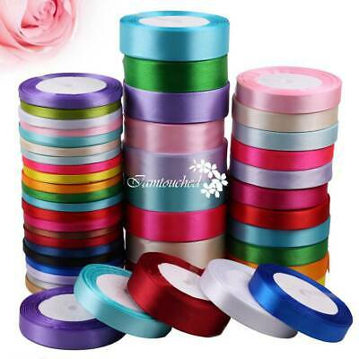 6/15/25mm Satin Ribbon Sewing Fabric Gifts Wrapping Wedding Party Decoration](Ribbon Decorations)
