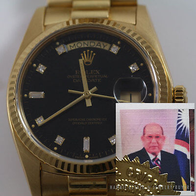 HISTORIC ROLEX DIAMOND DIAL DAY-DATE PRESIDENTIAL 36mm WATCH W/ APPRAISAL