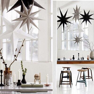 Paper 3D Star Hanging Christmas Tree Lantern Home Party Decoration DIY Craft - Paper Star Lanterns