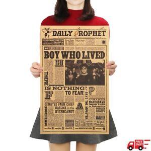 Harry Potter Daily Prophet Vintage Poster Bar Cafe Decorative Kraft Paper Poster