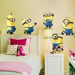 Minions-Despicable-Me-2-Removable-Wall-stickers-Decal-Kids-Decor-Home-Mural-Art
