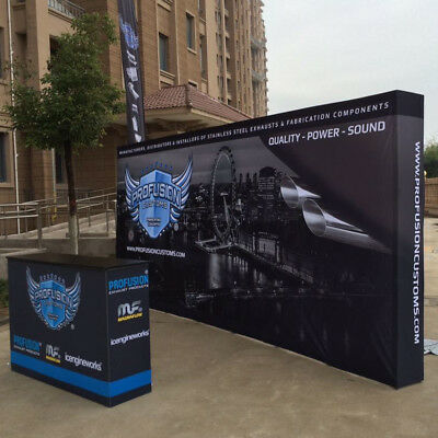 20ft Pop Up Display Trade Show Booth Stand Backdrop Wall With Custom Printing