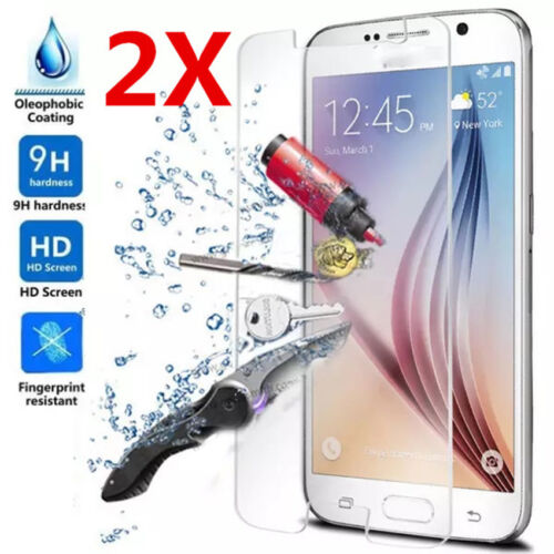 2Pcs 9H+ Premium Tempered Glass Film Screen Protector For Samsung Galaxy Phone