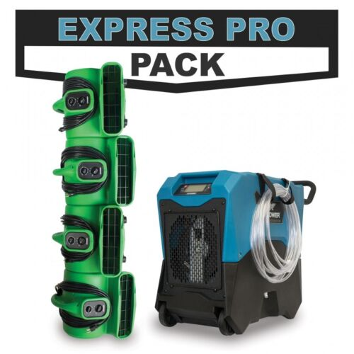 Disaster Restoration EXPRESS PRO PACK w/ LGR Dehumidifier & Industrial Air Mover