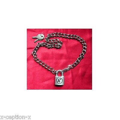 Sid Vicious Rabbit 'R' Padlock on Chain Choker S, new