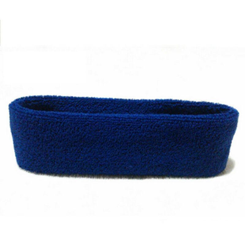 Schweißband Schweiß  Stirn Band Blau Sportband Wristband Armband Fitness Sport