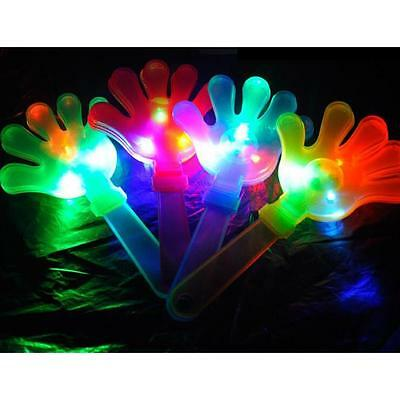 Hand LED Flashing Glow Lights Clapper Toys Clacker Revelry Party Sports Funny