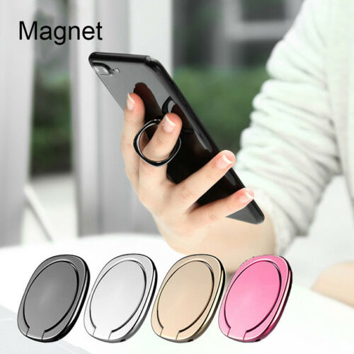 Magnetic Mobile Phone 360° Finger Ring Stand Holder Car Bracket for iPhone 8 X 7