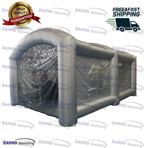 20x13ft Inflatable Standing Workstation Spray Paint Booth Tent For Car