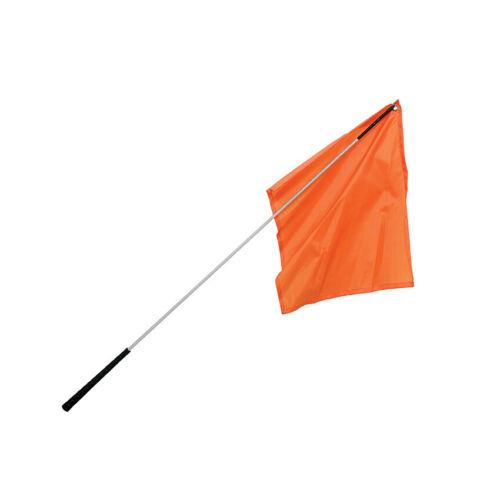 "Flag Training Stick / 48"" Silver Shaft with Orange Flag"