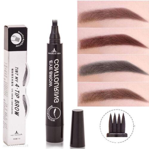 4 Head Fork Tip Microblading Tattoo Eyebrow Ink Pen Sketch Eyebrow Pencil Gift