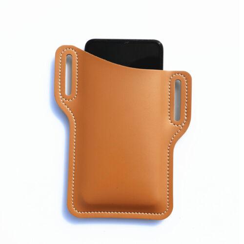 Men Cellphone Loop Holster Case Belt Waist Bag Props Leather Purse Phone Wallet