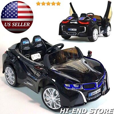 BMW i8 Style Ride On Electric Toy Car For Kids w/ Parental Remote Control Black