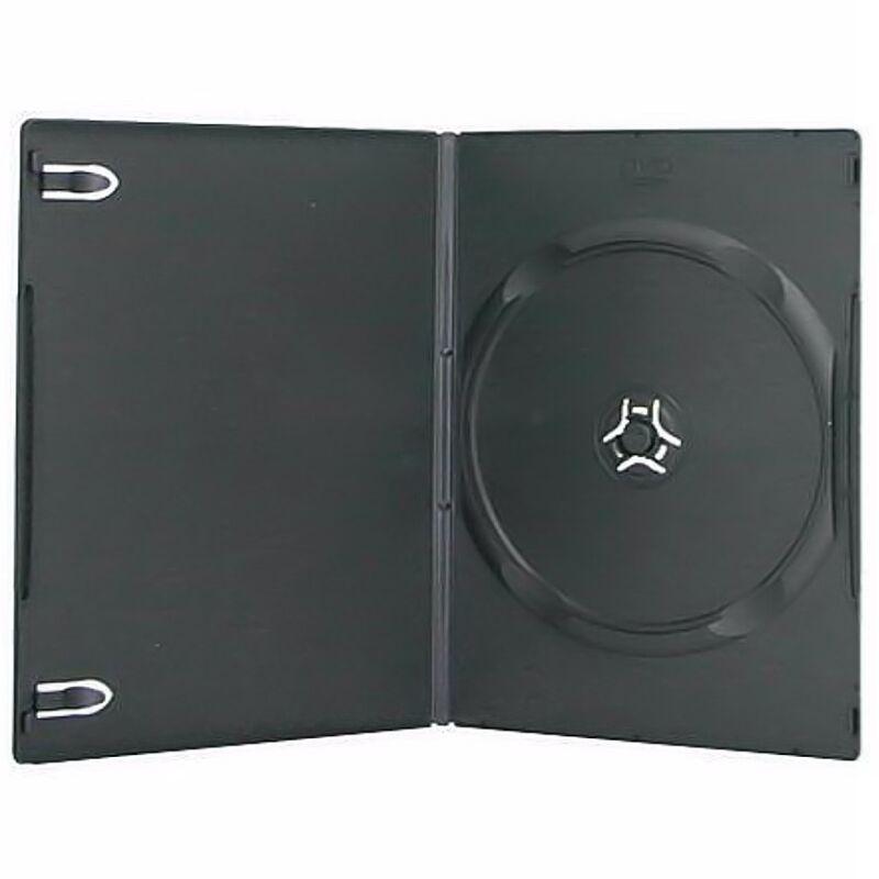 100 New Single Standard 14mm Premium Black DVD Case CD Move Discs Holder