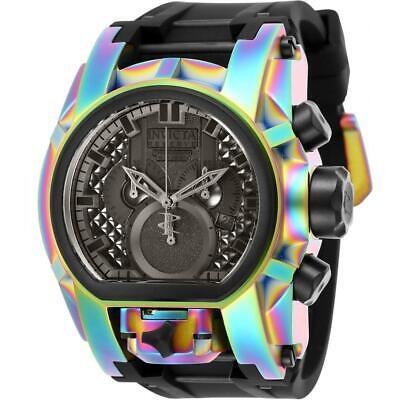 Invicta Reserve Zeus 25609 Men's Iridescent Chronograph Black SIlicone Watch