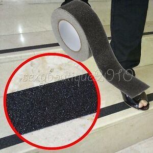 Outdoor Floor Non Slip Stair Treads Black Safety Anti Skid Tape High Traction Ebay