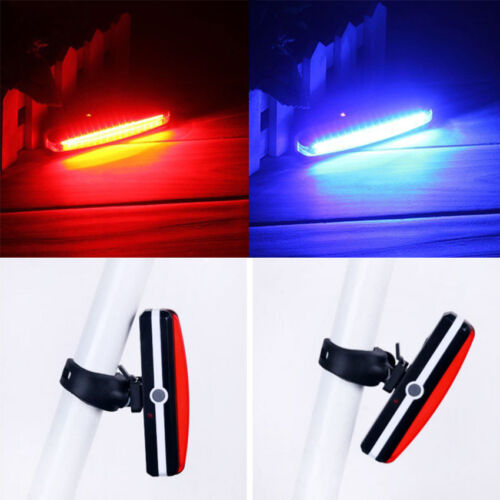 Bike Bicycle Cycling USB Rechargeable LED Waterproof Front Rear Tail Light Lamp