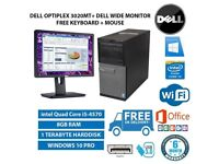 Gaming DELL OptiPlex MT 3020 intel Quad Core i5-4570 3.20 GHz 8GB RAM 1TB HDD