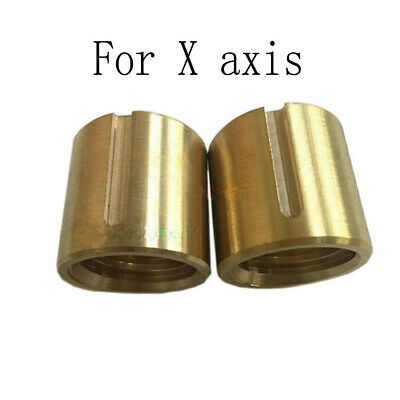 2x Bridgeport Milling Machine Brass Cross Feed Copper Nut X Axis Vertical Mill
