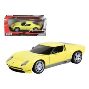 Lamborghini Miura Concept Yellow 1 24 Diecast Model Car By Motormax