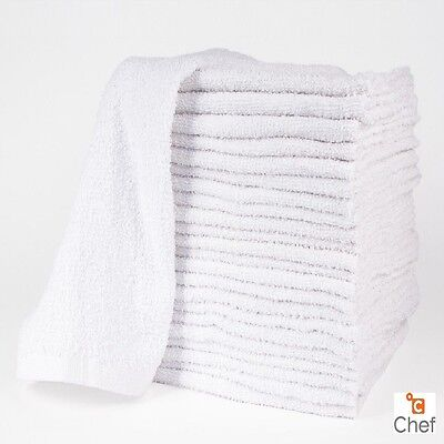 как выглядит 60 new cotton white terry cloth restaurant bar mops premium kitchen towels 34oz фото
