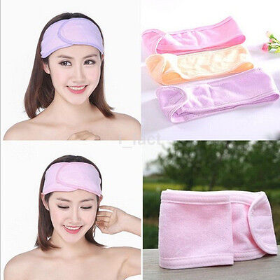 Adjustable Soft Towelling Hair Turban Head Band for Make Up Facial Salon Spa Hot