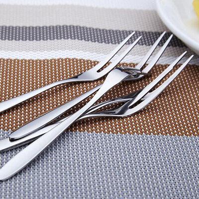 Fruit Fork Portable Cutlery Fork Dinner Forks Dessert Fork Stainless Steel