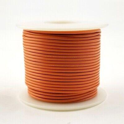 22 Awg Gauge Solid Orange 300 Volt Ul1007 Pvc Hook Up Wire 100ft Roll 300v